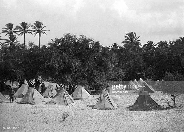 War in Libya between Italy and the Ottoman Empire camp of the Italian troups probably near Tripoli 1911/1912