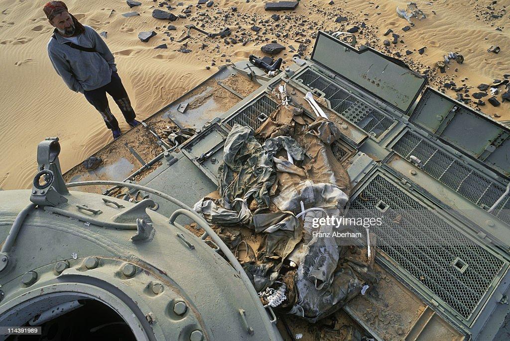 War in the desert, Sahara : Stock Photo