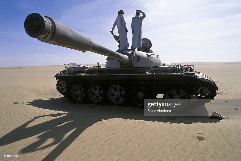 War in the desert, Sahara : Stock Photo