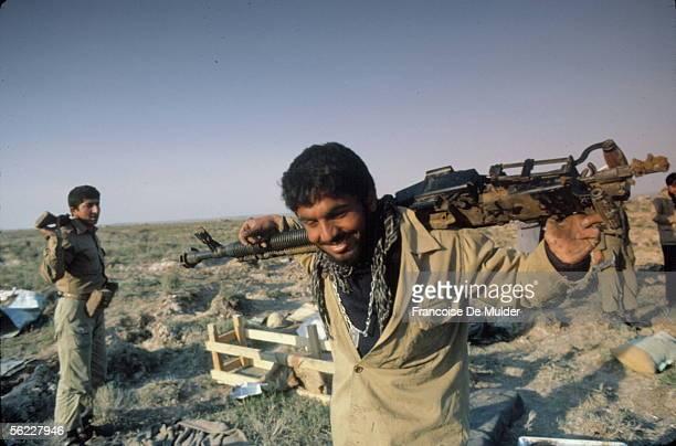 War Iran-Iraq. Front of Ahvaz. Iranian army. Iran, in April, 1982.