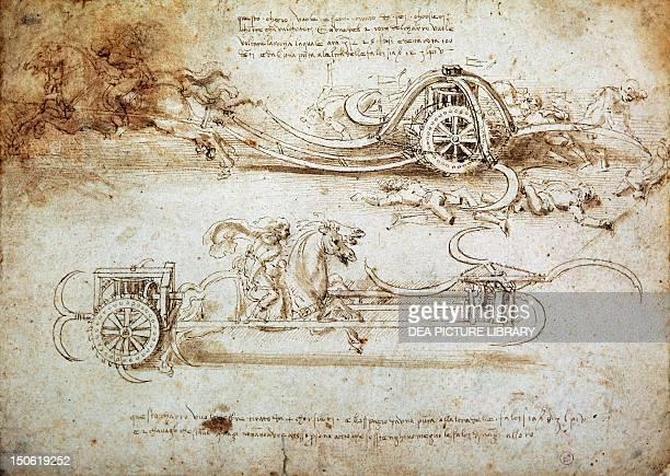 War machine by Leonardo da Vinci drawing