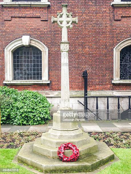 WW1 war memorial at St Botolph without Bishopsgate City of London