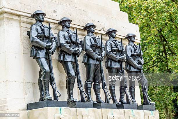 war memorial at the cenotaph in  london - the cenotaph stock pictures, royalty-free photos & images