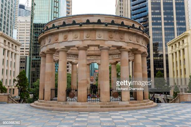 anzac war memorial in anzac square, brisbane - anzac day stock pictures, royalty-free photos & images