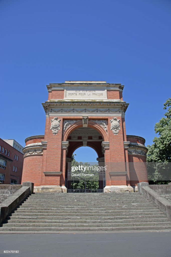 War memorial in Saint Salvy, Albi, Tarn, France. : Stock Photo