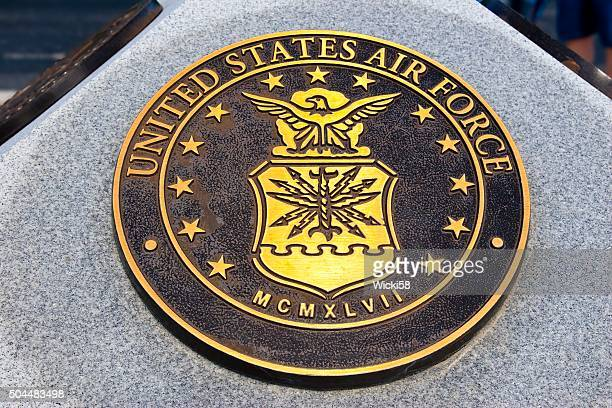war memorial plaque united states airforce - us military emblems stock pictures, royalty-free photos & images