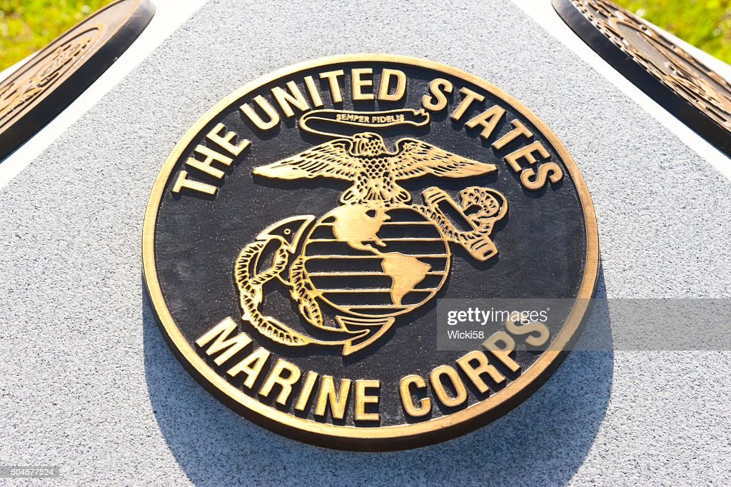 photograph about Printable Marine Corps Emblem called Us Maritime Corps Quality Illustrations or photos, Pics, Photos - Getty