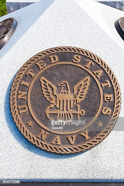war memorial plaque united states navy - us military emblems stock pictures, royalty-free photos & images