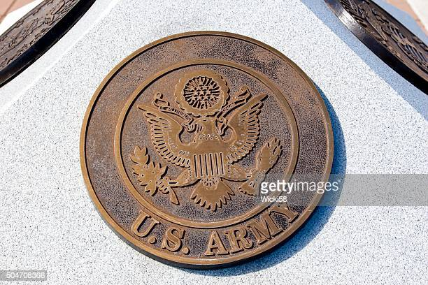 war memorial plaque us army - insignia stock pictures, royalty-free photos & images