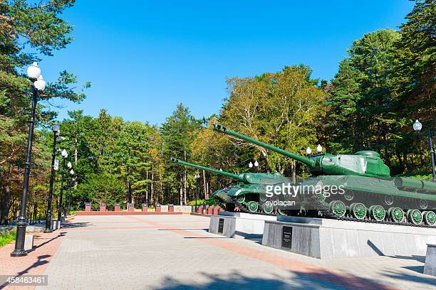 war museum in yuzhno sakhalinsk - syolacan stock pictures, royalty-free photos & images