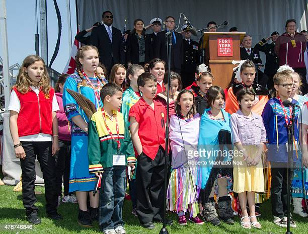 YORK TORONTO ONTARIO CANADA War of 1812 200th Anniversary of the Battle of York Celebration A children's chorus sings at an outdoor event in...