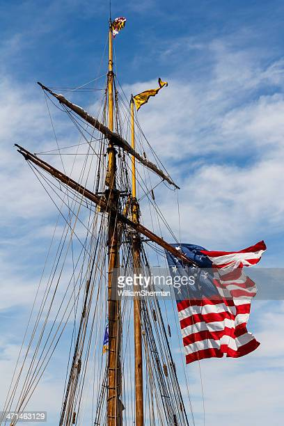 War of 1812 American Flag on Ships Mast