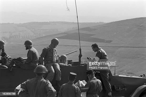 French Forces Operations In Aures Algérie Mai 1956 opérations des forces françaises dans les montagnes de NEMENTCHA et dans les AURES Un soldat avec...