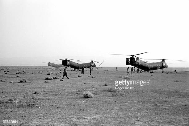 War of Algeria Helicopters of the French army The South constantinois in June 1961 MAL29