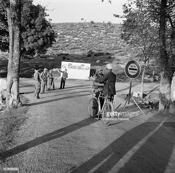 Tlemcen In State Of Alert Le 23 mai 1956 Tlemcen en Algérie la ville transformée en camp retranché par les forces armées françaises pour contrer les...