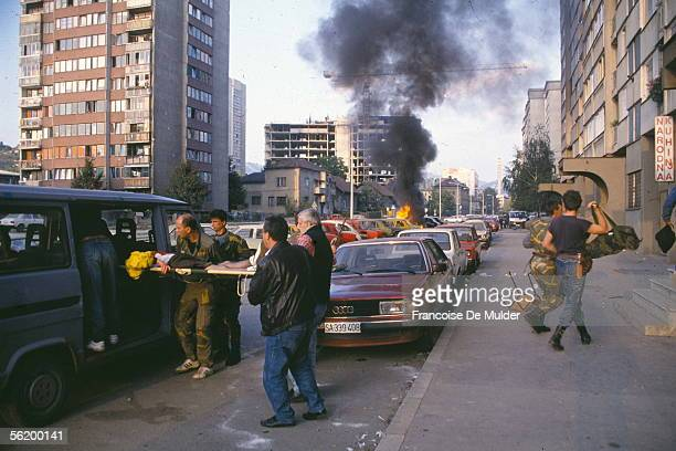 War of BosniaHerzegovina Bombing of Sarajevo September 1992