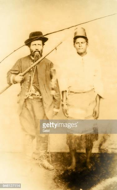 War of the Triple Alliance in the Paraguayan War 18651870 24 A Paraguayan soldier prisoner of a cavalry officer Brazilian