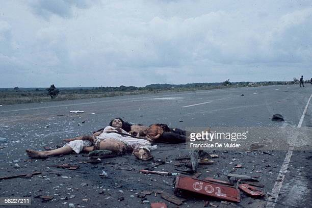 War of Vietnam Victims of an ambush on the road of the Cape SaintJacques April 1975