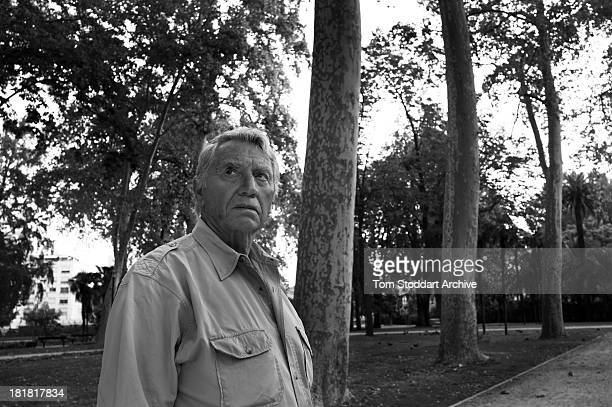 War photographer Don McCullin photographed at the Visa Pour L'image photojournalism festival in Perpignan France where he has a major retrospective...