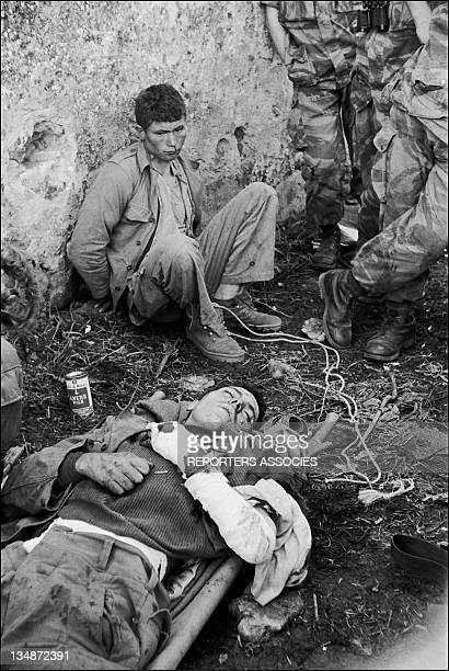 War prisoners during the 'Operation Bigeard' in March 1956 when an armed outbreak in SoukAhras South of Constantine region Algeria led to the killing...