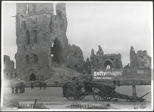 War Ruins at Ypres after 1918, Photo F J Mortimer, Ypes.