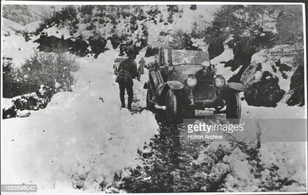 War Russia Motor snowed up February Russia