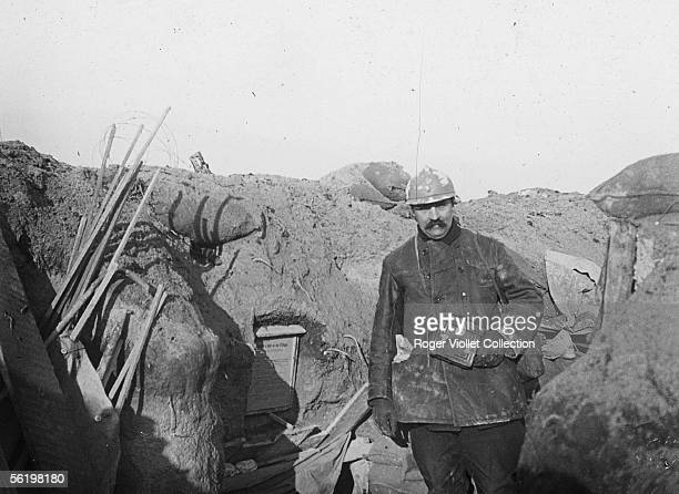 19141918 war Trench in the center of the 'potatoe' January 1916