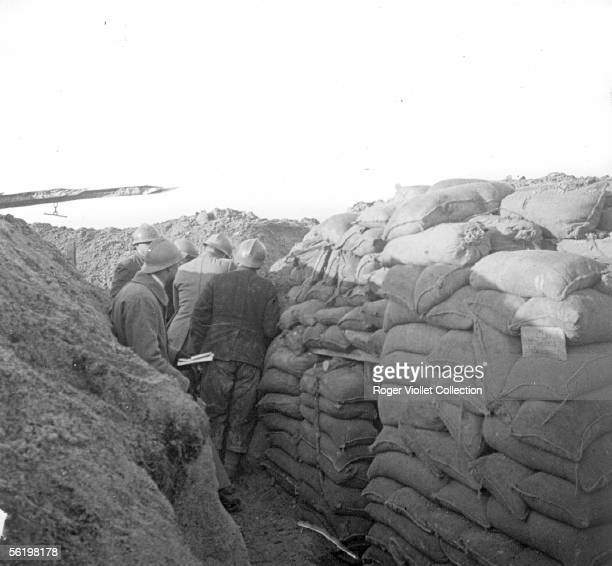 19141918 war Trench with machine gun shelter entry January 1916