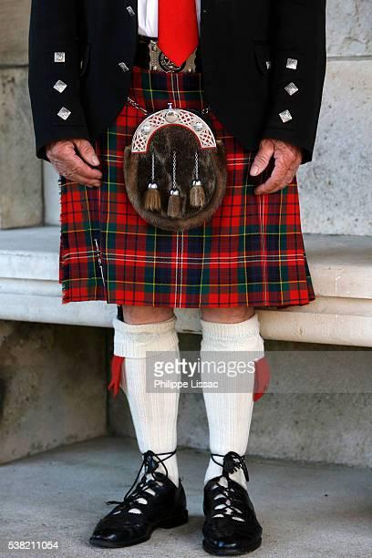 War veteran wearing a kilt
