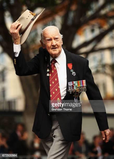 War veterans make their way down Elizabeth Street during the ANZAC Day parade on April 25 2017 in Sydney Australia Australians commemorating 102...