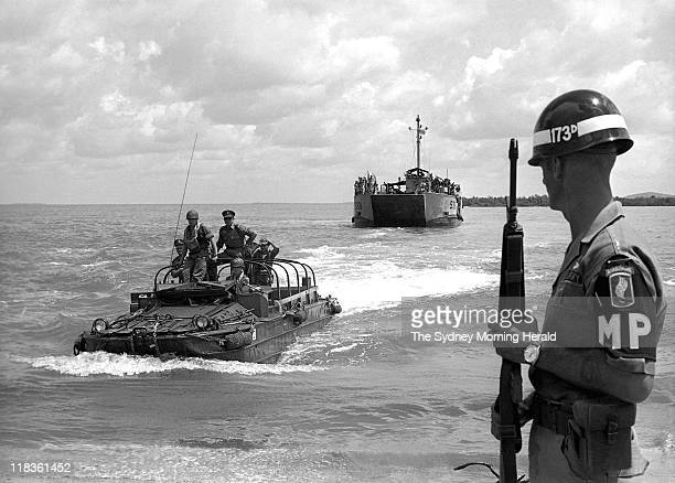 War Vietnam Photo by Stuart MacGladrie The highly trained First Battalion Royal Australian Regiment who sailed to Vietnam on converted aircraft...