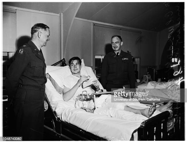 War wounded fund distribution 03 April 1952 Private First Class Gerald Rognan wounded in KoreaJerry Rognan Corporal John Arten Junior Corporal...