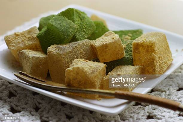 warabi mochi - 和菓子 ストックフォトと画像