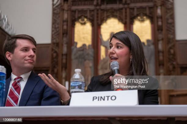 WASHINGTON DC MARCH 5 Ward 2 DC Council candidate Brooke Pinto participates in a candidates forum at the Foundry United Methodist Church on Thursday...