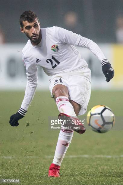 Ward Al Barri of Jordan in action during the AFC U23 Championship China 2018 Group C match between Iraq and Jordan at Changshu Sports Center on 16...