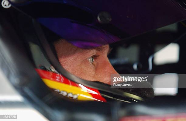 Ward Burton driver of the Bill Davis Racing Dodge Intrepid R/T during practice for the NASCAR Winston Cup Pop Secret Microwave Popcorn 400 on...