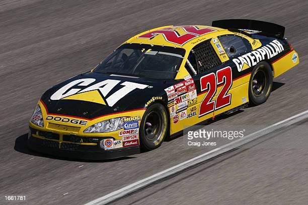 Ward Burton driver of the Bill Davis Racing Dodge Intrepid R/T during the Pop Secret Microwave Popcorn 400 on November 3 2002 at North Carolina...