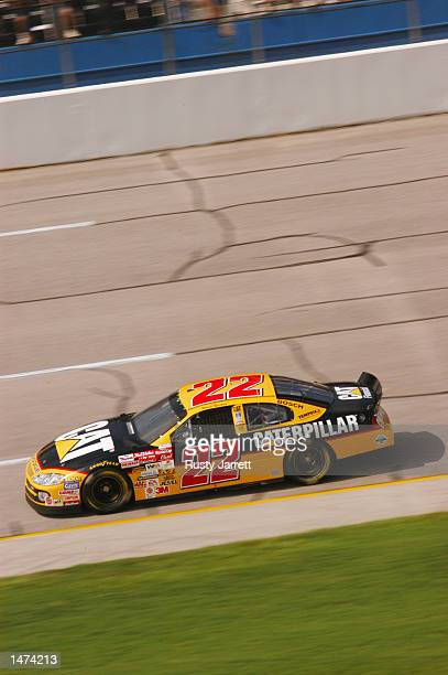 Ward Burton driver of the Bill Davis Racing Dodge Intrepid R/T in action during practice for the EA Sports 500 at Talladega Superspeedway on October...