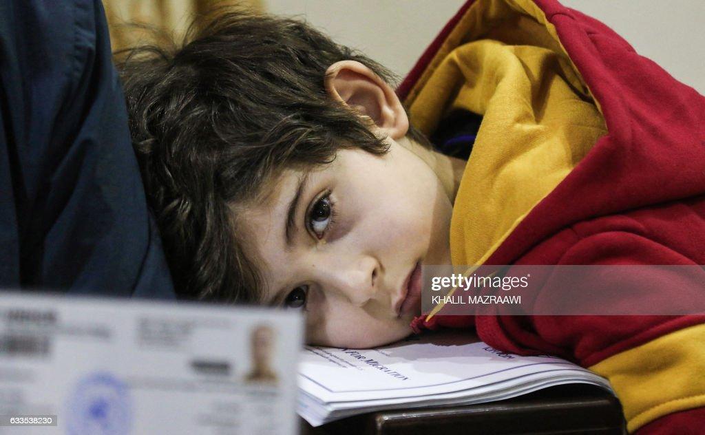 JORDAN-SYRIA-US-IMMIGRATION-POLITICS : News Photo