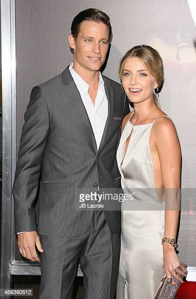 Ward Horton and Annabelle Wallis attend the Los Angeles special screening of New Line Cinema's 'Annabelle' on September 29 in Hollywood California