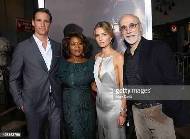 Ward HortonAlfre Woodard Annabelle Wallis and Tony Amendola attend the screening of New Line Cinema's 'Annabelle' held at the TCL Chinese Theatre on...