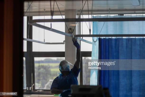 Ward is cleaned during a TACTIC-R trial at the Addenbrooke's Hospital, operated by the Cambridge University Hospital NHS Foundation Trust, in...