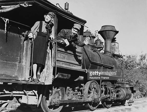 Ward Kimball And His Wife Betty Kimball At San Gabriel In California