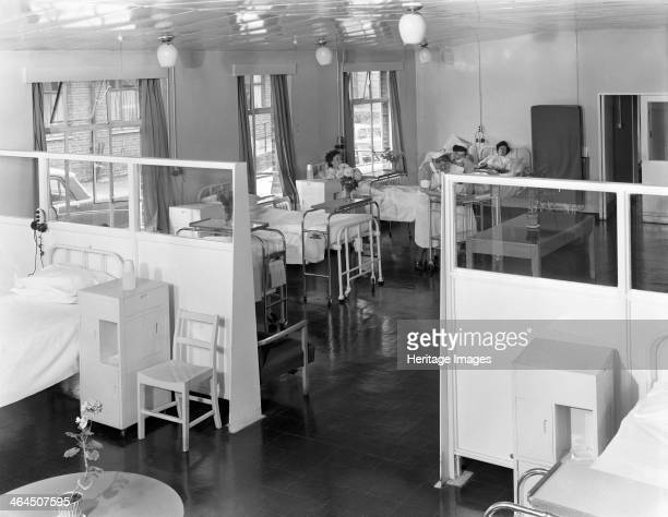 Ward One at the Montague Hospital in Mexborough South Yorkshire 1959 The hospital was founded in 1889 after a campaign by Dr Sykes and Andrew...