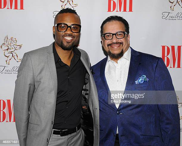 Wardell Malloy and Richard Smallwood attend BMI's 2014 Trailblazers of Gospel Music Awards Luncheon at Rocketown on January 17 2014 in Nashville...