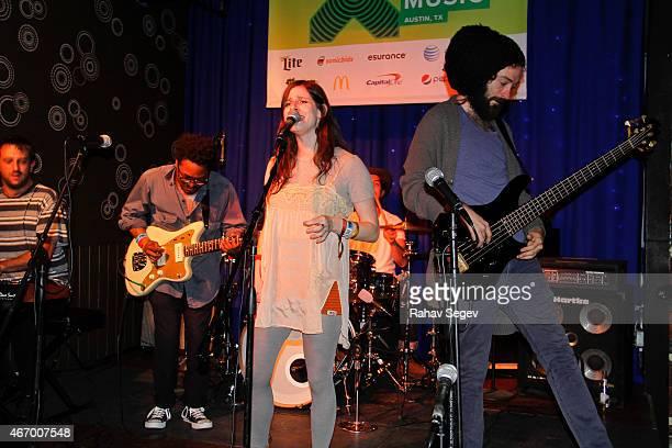 Wardell with lead singer Sasha Spielberg perform at The Velveeta Room on March 19 2015 in Austin Texas