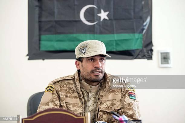 Warden Ali Zableh is seen at the Milita prison where prisoners of war war kept in the Libyan town of Zliten on March 4 2015