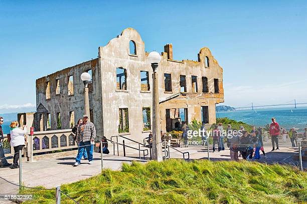 Wardens House Alcatraz Prison now National Park with Visitors