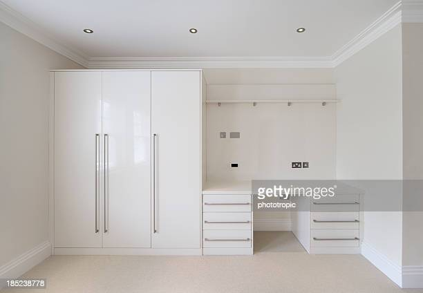 wardrobe and desk unit