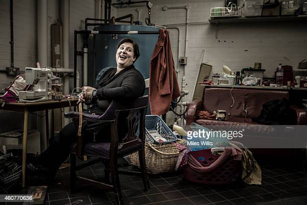 Wardrobe Mistress Ruth Keeling poses for a portrait in the wardrobe department at the Hackney Empire on December 17 2014 in London England Hackney...